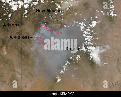 Whitewater-Baldy Complex E2809CA Ring of FireE2809D (7336099360) - Stock Image