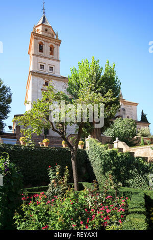 The Church of Saint Maria of Alhambra in the Alhambra Palace in Granada Spain. - Stock Image