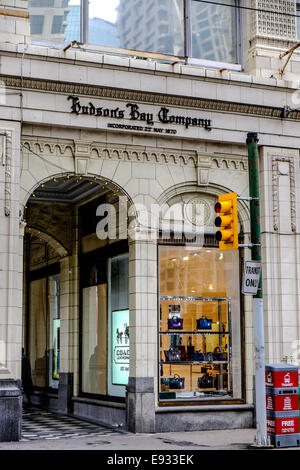 Hudson's Bay Company department store located at 200 8 Avenue Southwest in Calgary, Alberta Canada. - Stock Image