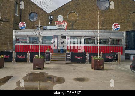 trinity bouy wharf east london diner - Stock Image