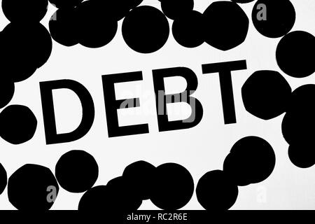 Debt - Stock Image