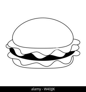Fast food hamburger food symbol - Stock Image