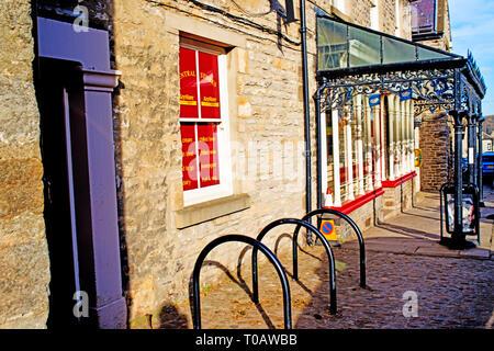 Wrought Iron shop entrance, Middleham, North Yorkshire, England - Stock Image