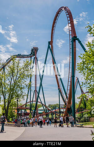 canada's wonderland is the largest theme park in canada, it is located in vaughan, ontario, canada - Stock Image