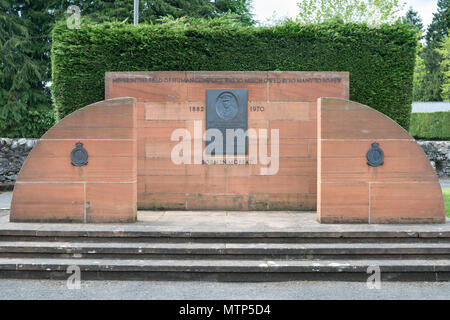 The Hugh Dowding memorial, Moffat, Dumfries and Galloway, Scotland, UK - Stock Image