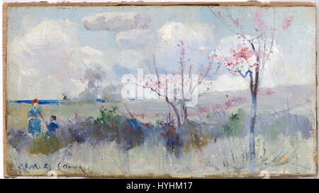 Charles Conder   Herrick's Blossoms   Google Art Project - Stock Image