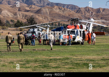 Los Angeles, California USA 3 NOV 2018 Navy helicopters were popular at the American Heroes Airshow in Los Angeles Credit: Chester Brown/Alamy Live News - Stock Image
