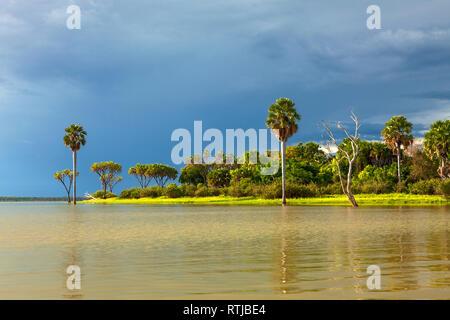Lake landscape, Tanzania, East Africa - Stock Image