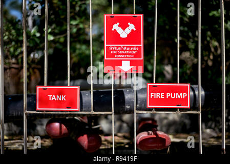 Fire water point connection - Stock Image