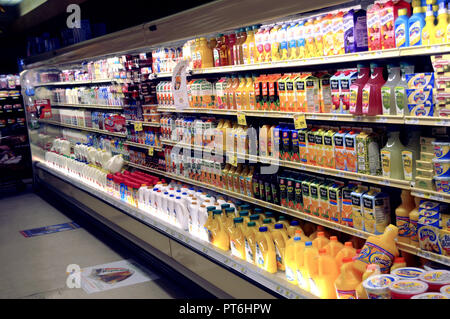 The dairy section of a store in Greenbelt, Md - Stock Image