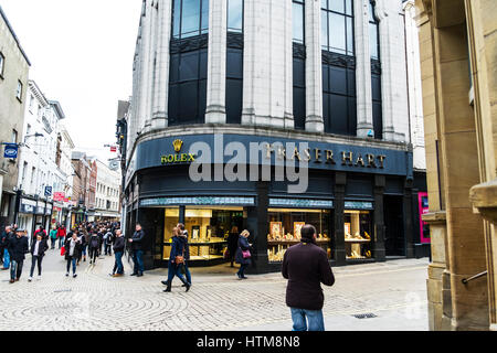 Rolex watch shop rolex watch store front sign in York city rolex jewellery rolex jewelers shop front UK England - Stock Image