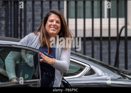 London 10th July 2018, , Caroline Noaks, Immigration minister arrives at Cabinet meeting at 10 Downing Street, London Credit Ian Davidson/Alamy Live News - Stock Image