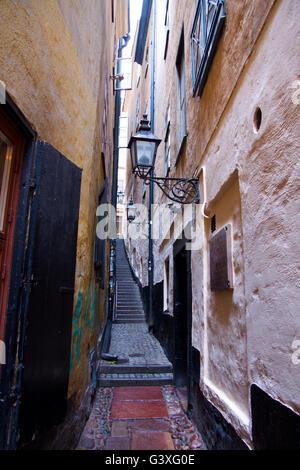 Narrow alley - Stock Image