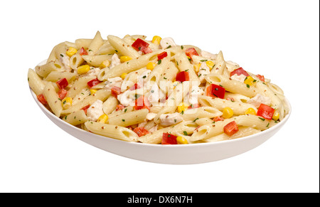 A bowl of Penne pasta - Stock Image