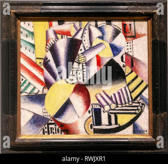 The Bargeman by Fernand Léger, The Metropolitan Museum of Art, Manhattan, New York USA - Stock Image