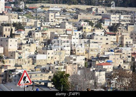 the Old City,Jerusalem,birds eye view - Stock Image