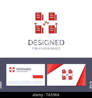 Creative Business Card and Logo template Exchange, File, Folder, Data, Privacy Vector Illustration - Stock Image