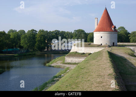 Kuressaare castle (Linnus) Cannon Tower of North Bastion. Island Saaremaa. Estonia - Stock Image