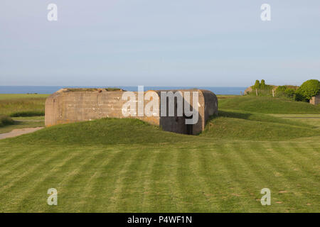 Destroyed german Battery Longues sur Mer - Stock Image