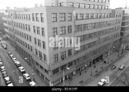 The Czechoslovak Radio Building on Vinohradska Street in Prague, Czechoslovakia, January 10, 1984. (CTK Photo/Pavel Horejsi) - Stock Image