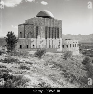 1950s, Afghanistan, newly constructed Mosque built on hiliside. - Stock Image