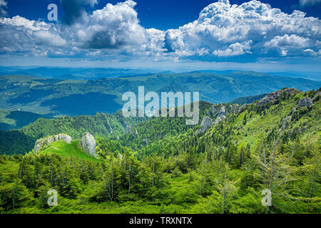 Landcscape hight mountains, Carpathian mountains, Romania - Stock Image