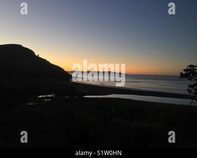 Pacific Ocean at dawn - Stock Image