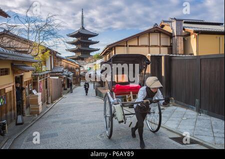 Japan, Kyoto City, Gion, Yasaka Pagoda - Stock Image
