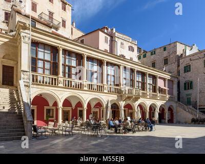 Town Hall at Republic square, Sibenik, Croatia - Stock Image