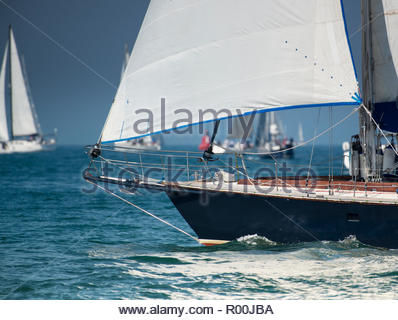 Yacht at sea - Stock Image
