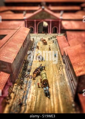Roman street scene model. - Stock Image