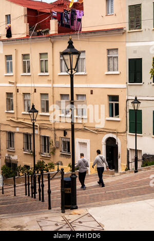 Gibraltar, Castle Street, Calle Comedia, used as theatre by garrison in the past - Stock Image