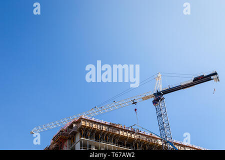 New North Vancouver development under construction with a tall crane near Lonsdale Ave. - Stock Image