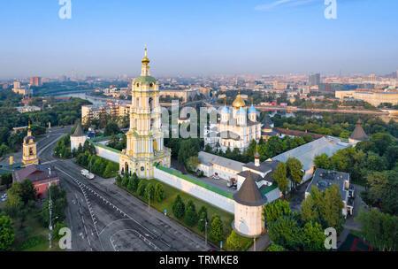 Aerial  view of Novospassky Monastery, Moscow, Russia - Stock Image