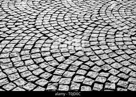 Footpath paving stone pattern - Stock Image