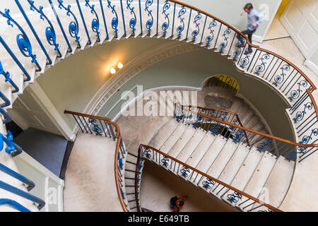 Rotunda Nelson stairs, Somerset House, London, UK - Stock Image