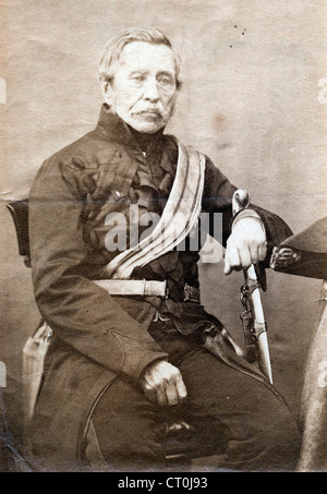 Portrait of Sir John Fox Burgoyne, ca 1850 - Stock Image