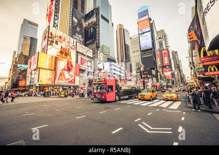 New York Time Square, vintage - Stock Image
