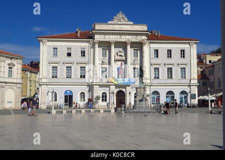 Tartini Square, Piran, Slovenia - Stock Image