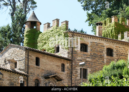 Spectacularly restored Pallotta Castle in Caldarola, Le Marche Italy - Stock Image