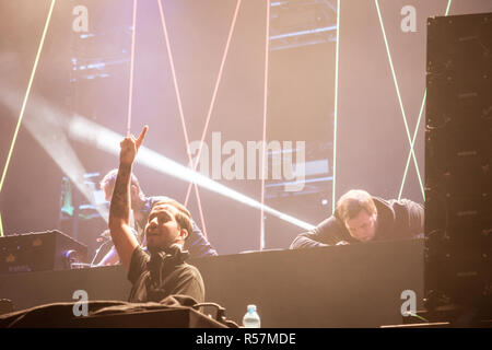 NOVI SAD, SERBIA - JULY 15, 2018: Mahmut Orhan, a Turkish DJ and songwriter, performing on stage during the of Exit Festival 2018  Picture of Mahmut O - Stock Image