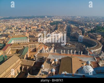 View from St Peter Vatican City Rome Lazio Italy along Via della Conciliazione - Stock Image