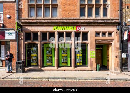 Jennings Bet,Betting Shop,Faversham,Kent,England - Stock Image