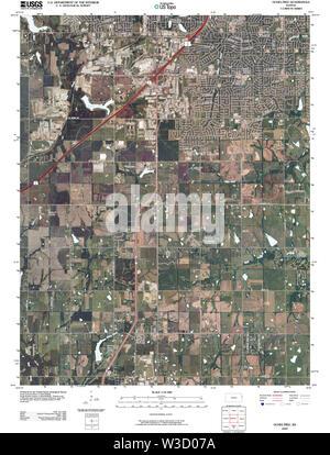 USGS TOPO Map Kansas KS Ocheltree 20091217 TM Restoration - Stock Image