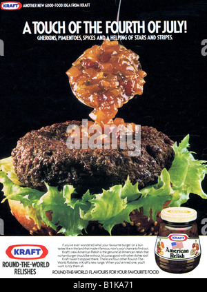 1980 advertisement for Kraft Mexican Relish FOR EDITORIAL USE ONLY - Stock Image