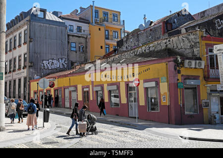 O Salsichinha Fast Food restaurant in Porto Portugal Europe  EU  KATHY DEWITT - Stock Image