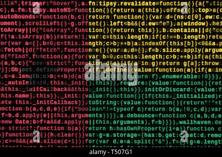 Guinea Bissau flag  is depicted on the screen with the program code. The concept of modern technology and site development. - Stock Image