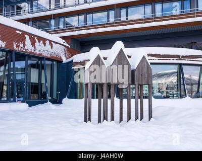 Detail of the Scandic Ishavshotel, on the harbour at Tromsø, Troms County, Norway. - Stock Image