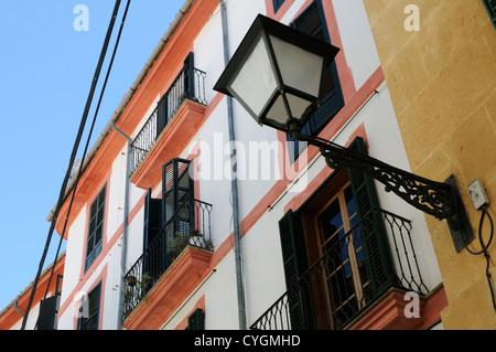 Gebäude, Carrer del Vi, Palma, Mallorca, Spanien, Europa.   Building, Carrer del Vi, Palma, Majorca, Spain, - Stock Image