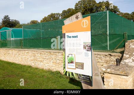 Forestry selling propagation unit, National arboretum, Westonbirt arboretum, Gloucestershire, England, UK - Stock Image